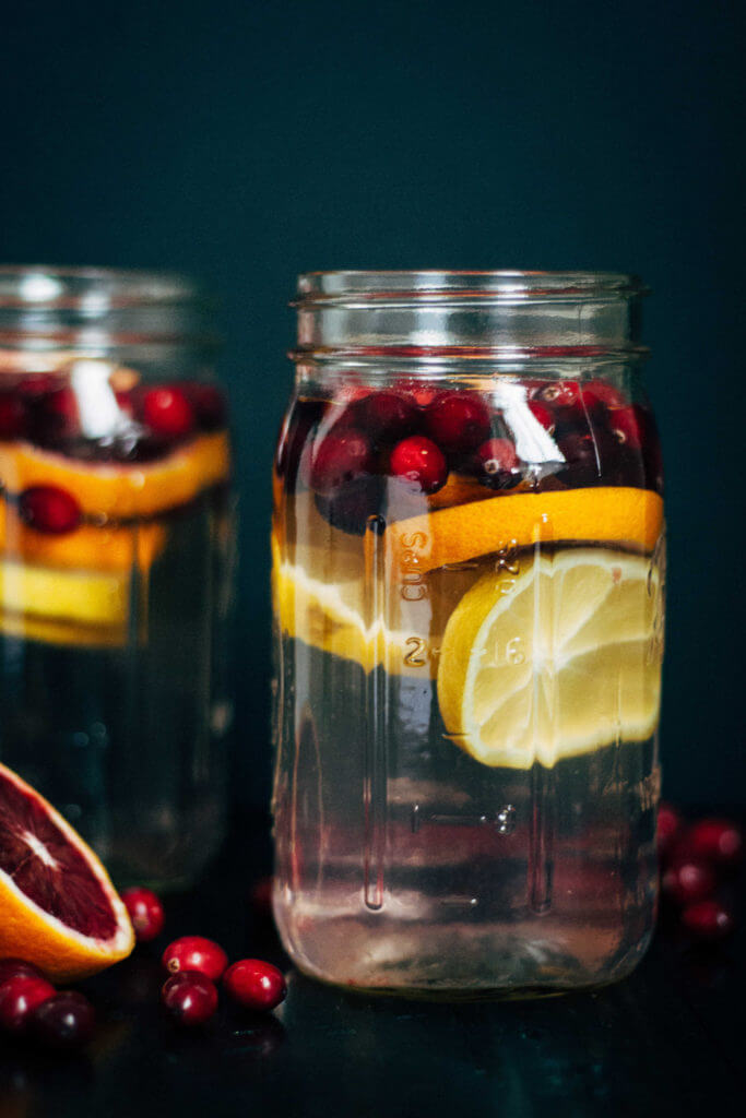 Vegan Cranberry Orange Detox Water