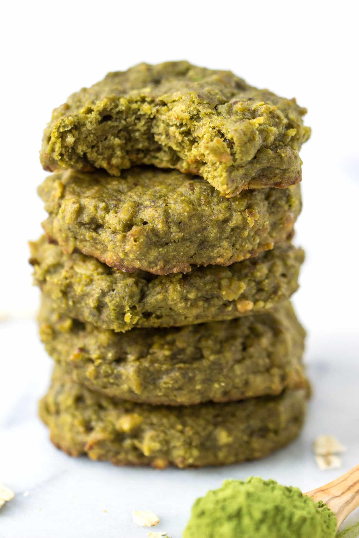 Vegan Matcha Quinoa Cookies