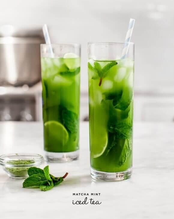 Vegan Matcha Mint Iced Tea