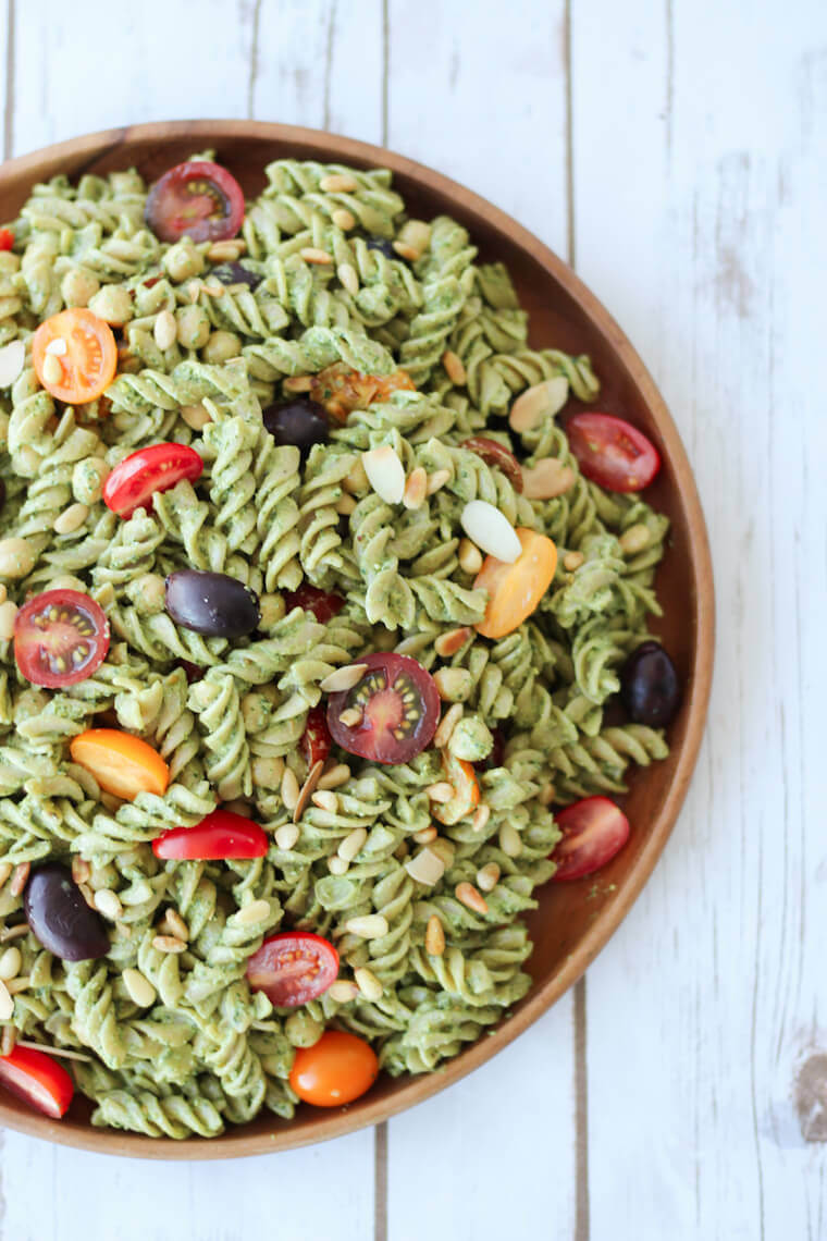 Vegan Pesto Pasta // | The Green Loot #vegan #MeatlessMonday #dairyfree