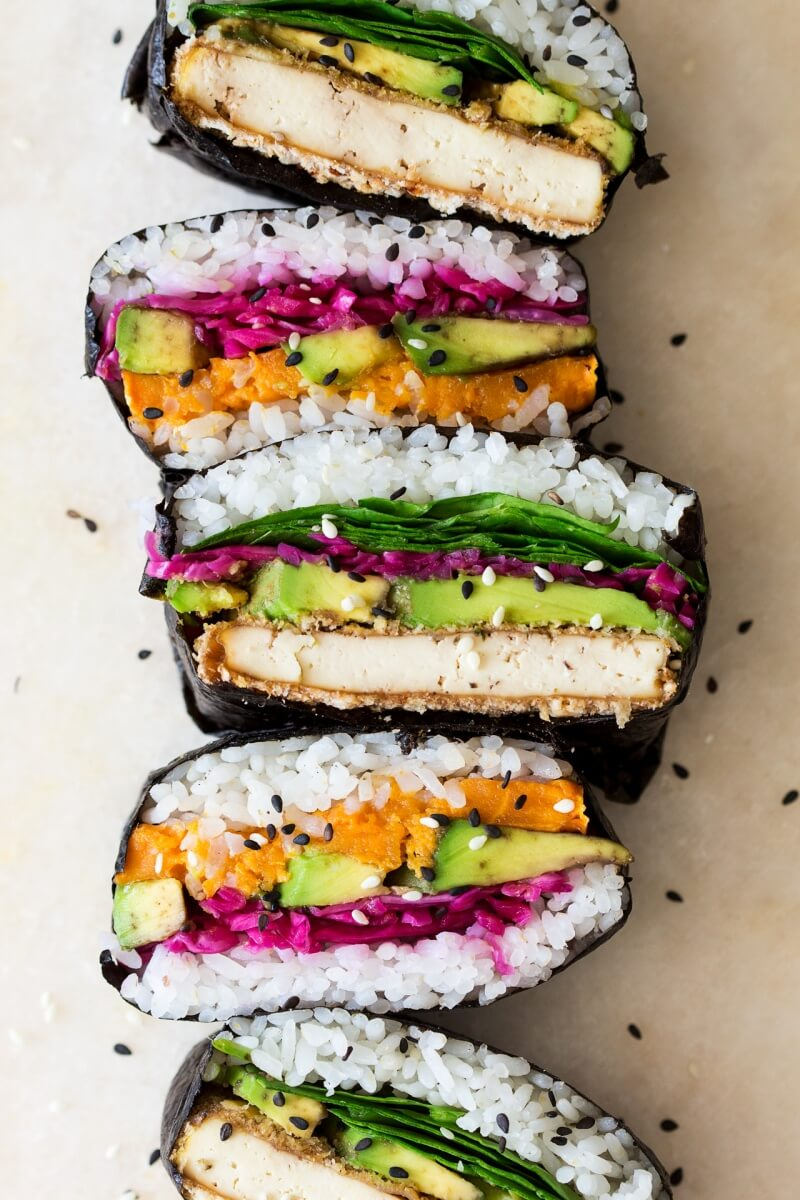 Vegan Onigirazu Sushi Sandwich // | The Green Loot #vegan #MeatlessMonday #dairyfree