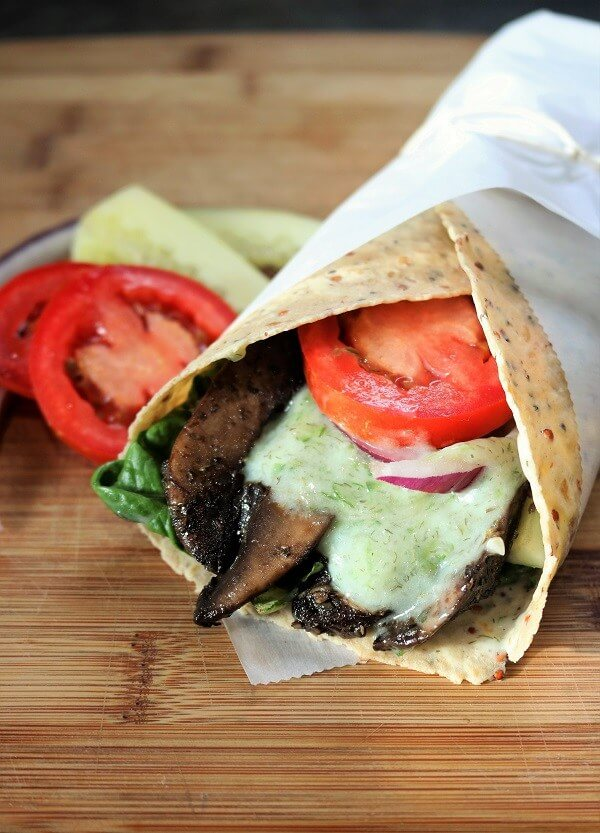 Vegan Gyro's With Tzatziki Sauce
