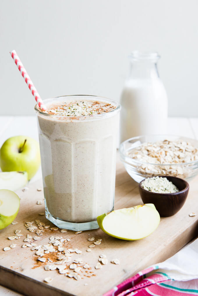Apple and Oats Protein Smoothie