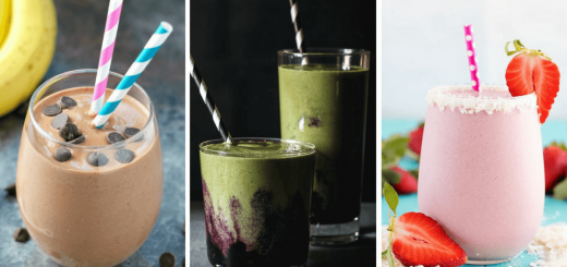 Vegan protein smoothie recipes for weight loss that you can drink post workout or for breakfast. They are healthy and dairy-free, made with chocolate, peanut butter, berries, banana, with or without powder. Drink them everyday to slim down and to help your muscle growth! | The Green Loot #vegan #protein #weightloss