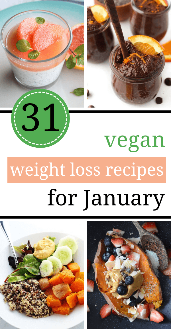 These Vegan Weight Loss Recipes for January are perfect if you've made a decision to lose weight in the new year! | The Green Loot #vegan #cleaneating #weightloss