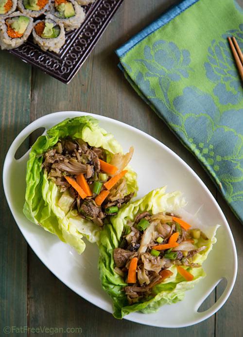 Vegan Mu Shu Jackfruit Lettuce Wraps