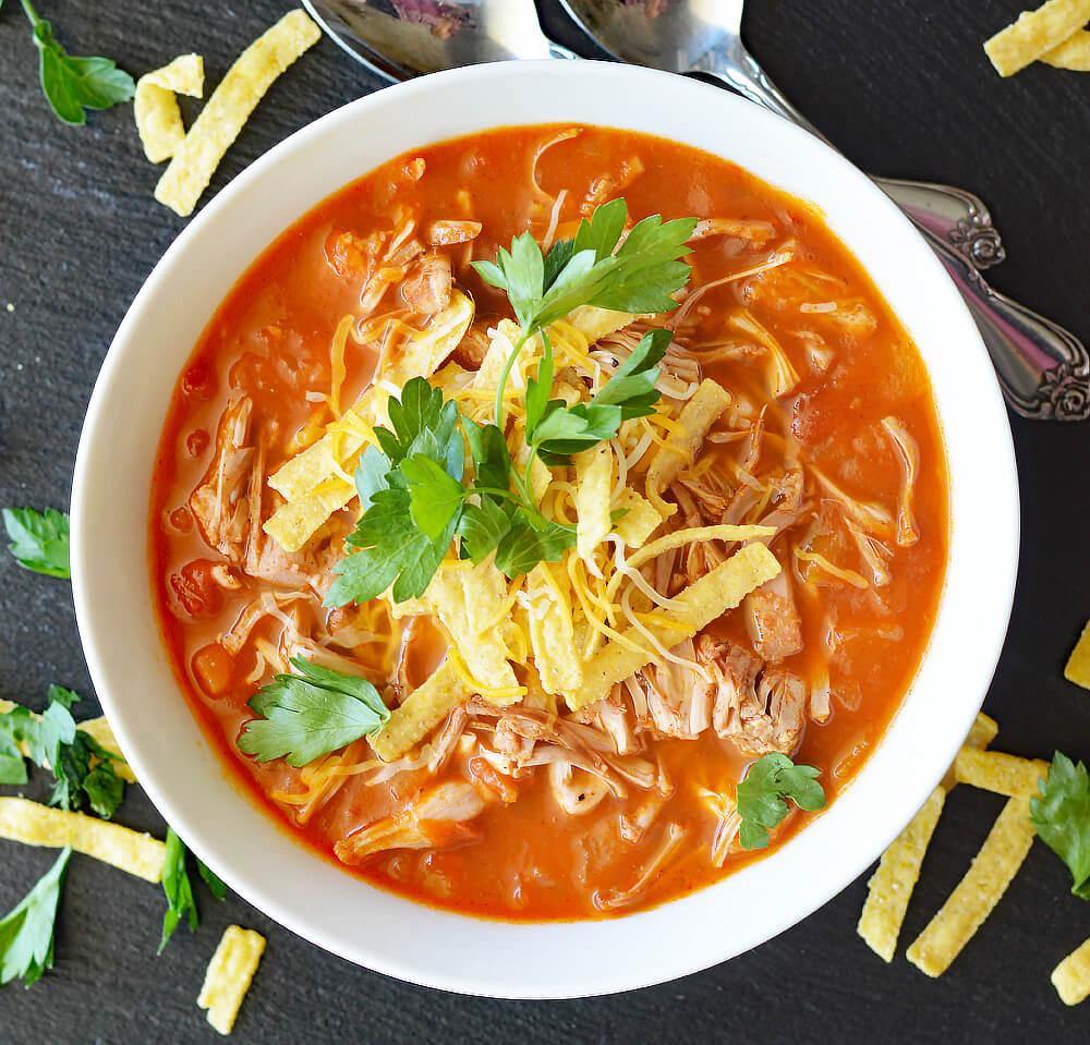 Vegan Jackfruit Tortilla Soup