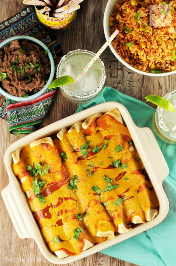 Vegan Carnitas Enchiladas