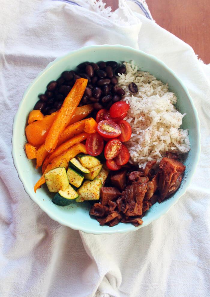 Vegan Jackfruit Taco Bowl