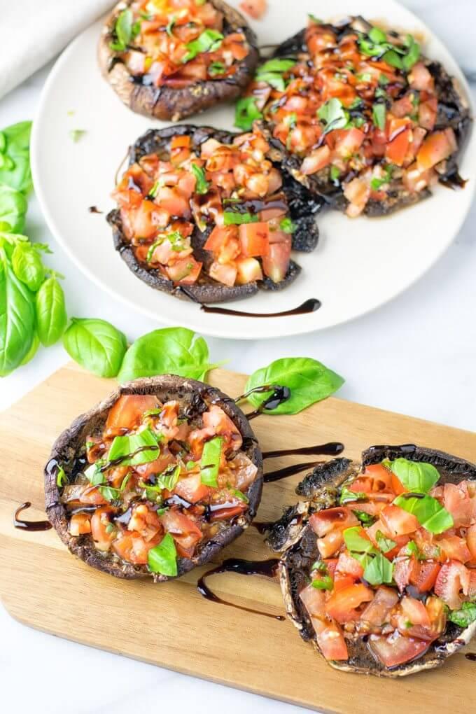 Vegan Portobello Mushroom Bruschetta
