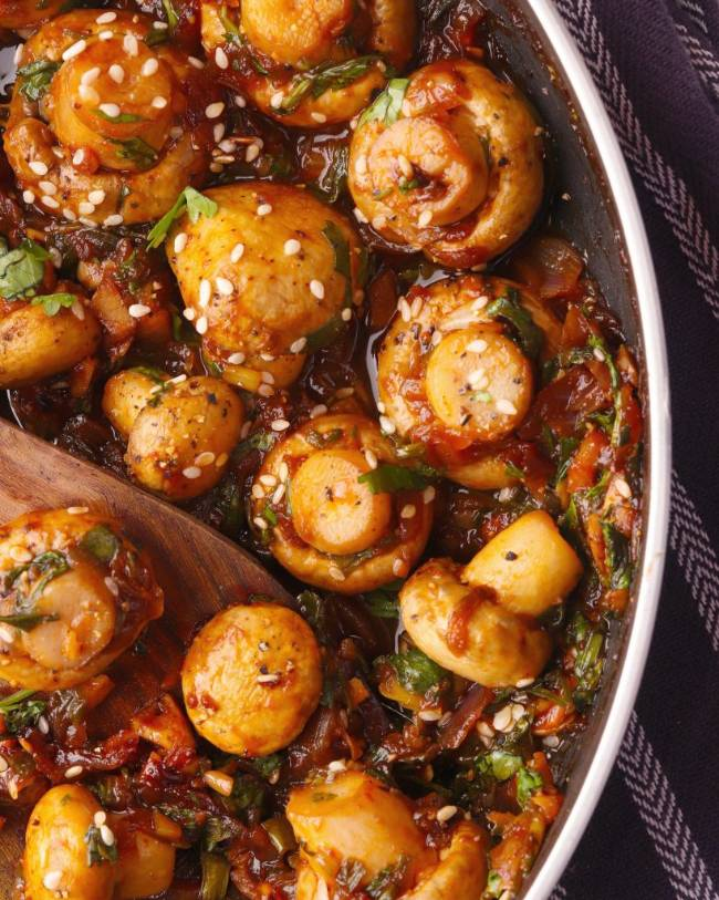 Chili Garlic Mushroom