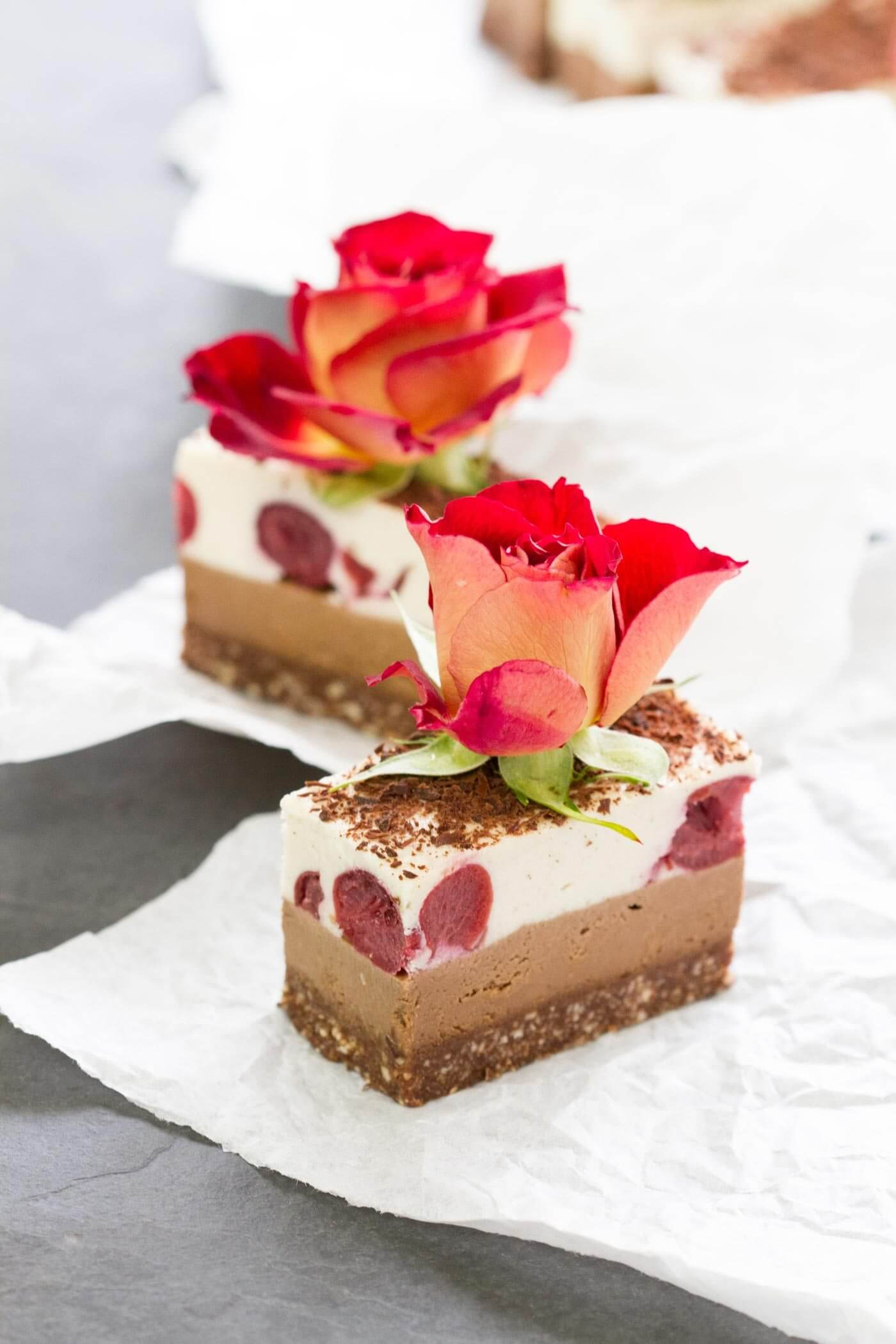 Vegan Raw Black Forest Slice
