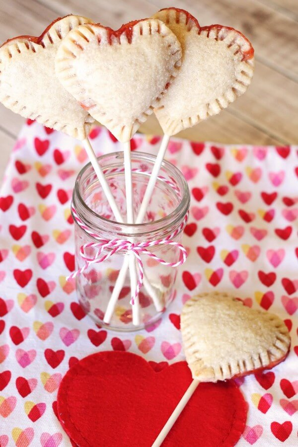 Vegan Heart Pie Pops