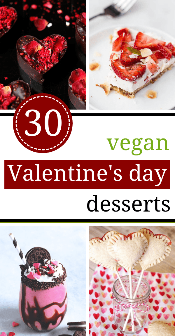 These Vegan Valentine's Day Recipes are made with red velvet, chocolate and strawberries to make your desserts romantic and irrisistible. | The Green Loot #vegan #veganrecipes #ValentinesDay