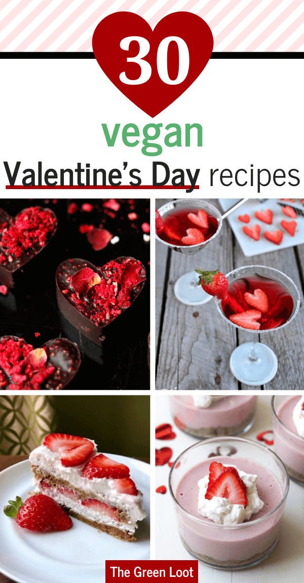 These Vegan Valentine's Day Recipes are made with red velvet, chocolate and strawberries to make your desserts romantic and irresistible. | The Green Loot #vegan #veganrecipes #ValentinesDay