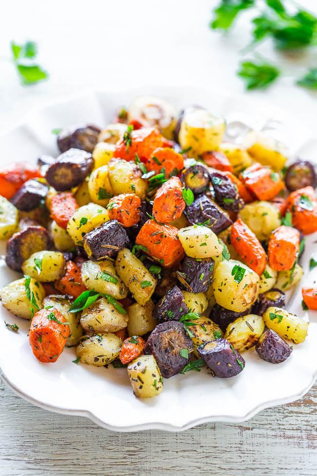 Vegan Herb-Roasted Carrots