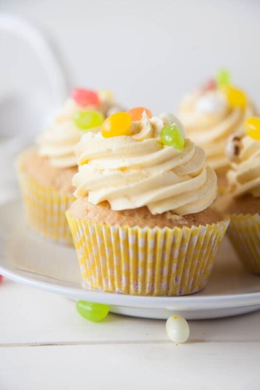 Vegan Easter Egg Lemon Cupcakes