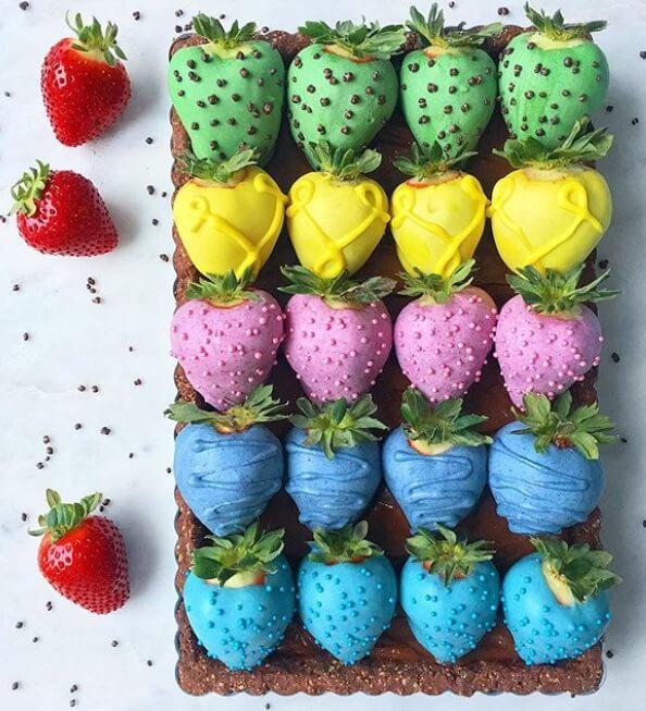 Vegan Strawberry Easter Eggs
