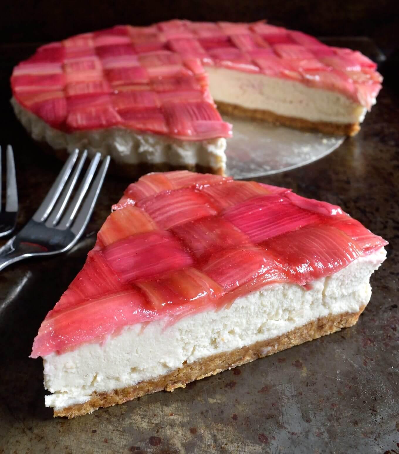 Vegan Rhubarb Cheesecake