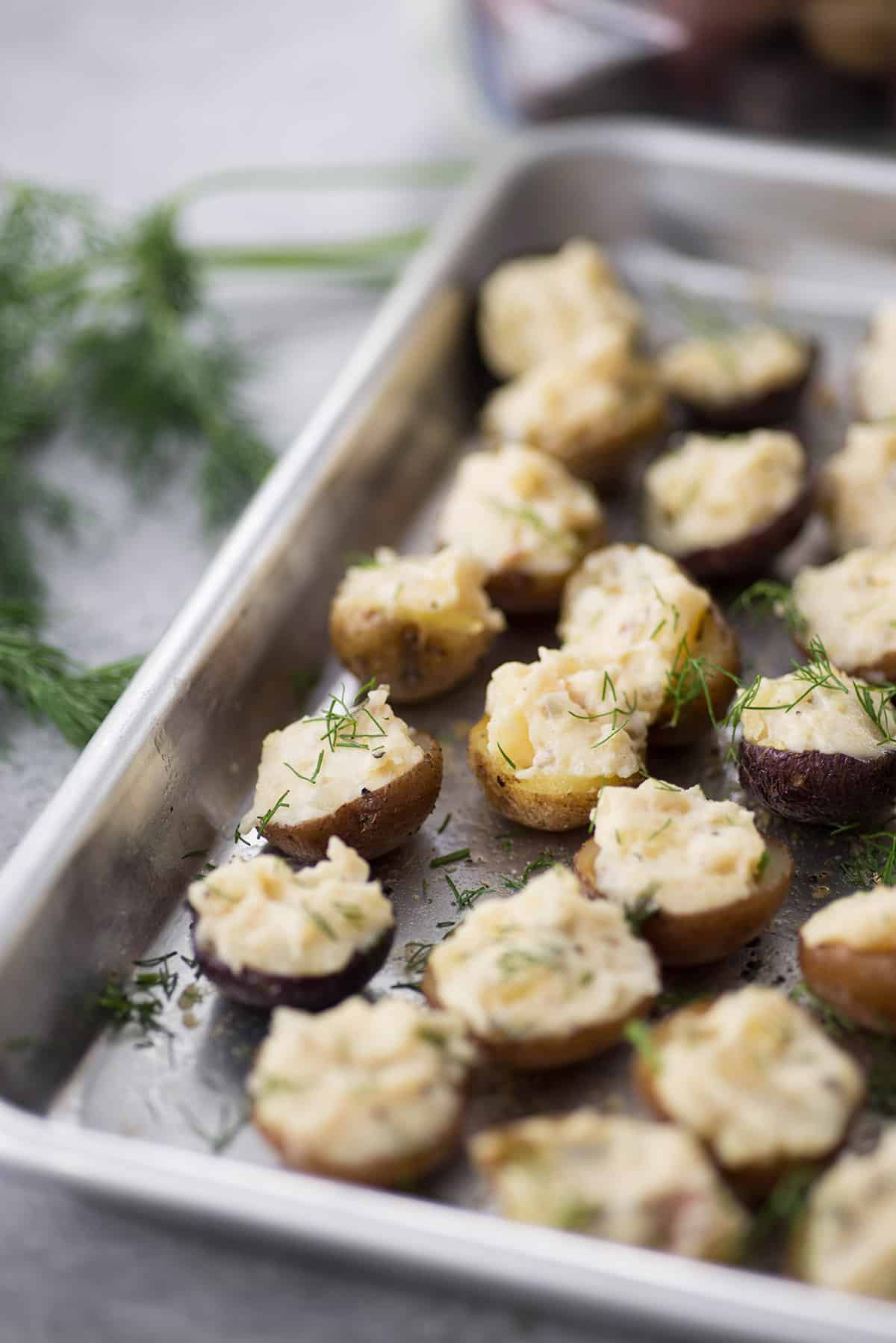 Vegan Deviled Potatoes // | The Green Loot #vegan #Easter