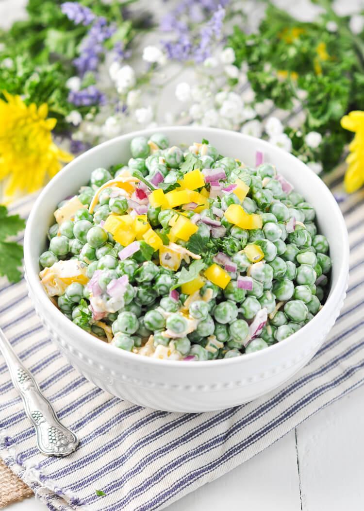 Vegan Southern Pea Salad //   The Green Loot #vegan #Easter