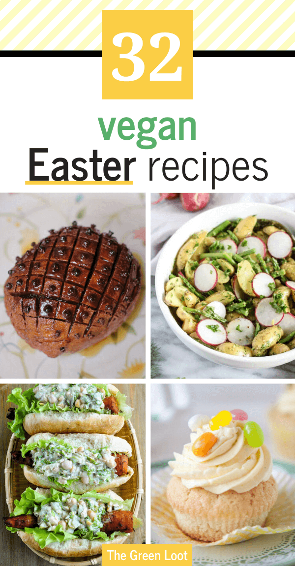 These colorful Vegan Easter Recipes are the perfect, fresh Spring meals that your whole family will love. Dairy-free and egg-free. | The Green Loot #vegan #veganrecipes #Easter