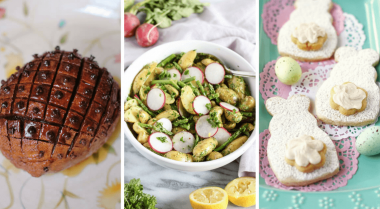 Vegan Easter Recipes and ideas for baking, cooking holiday desserts and dinners for the whole family. These easy Spring vegan dishes and meals are easy to make, healthy and crazy delicious. Dairy-free and egg-free. | The Green Loot #vegan #Easter