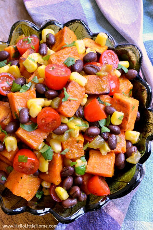 Vegan Tex Mex Roasted Sweet Potato Salad