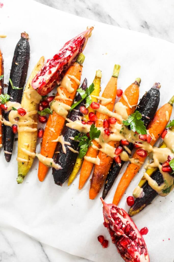 Vegan Roasted Carrots with Tahini
