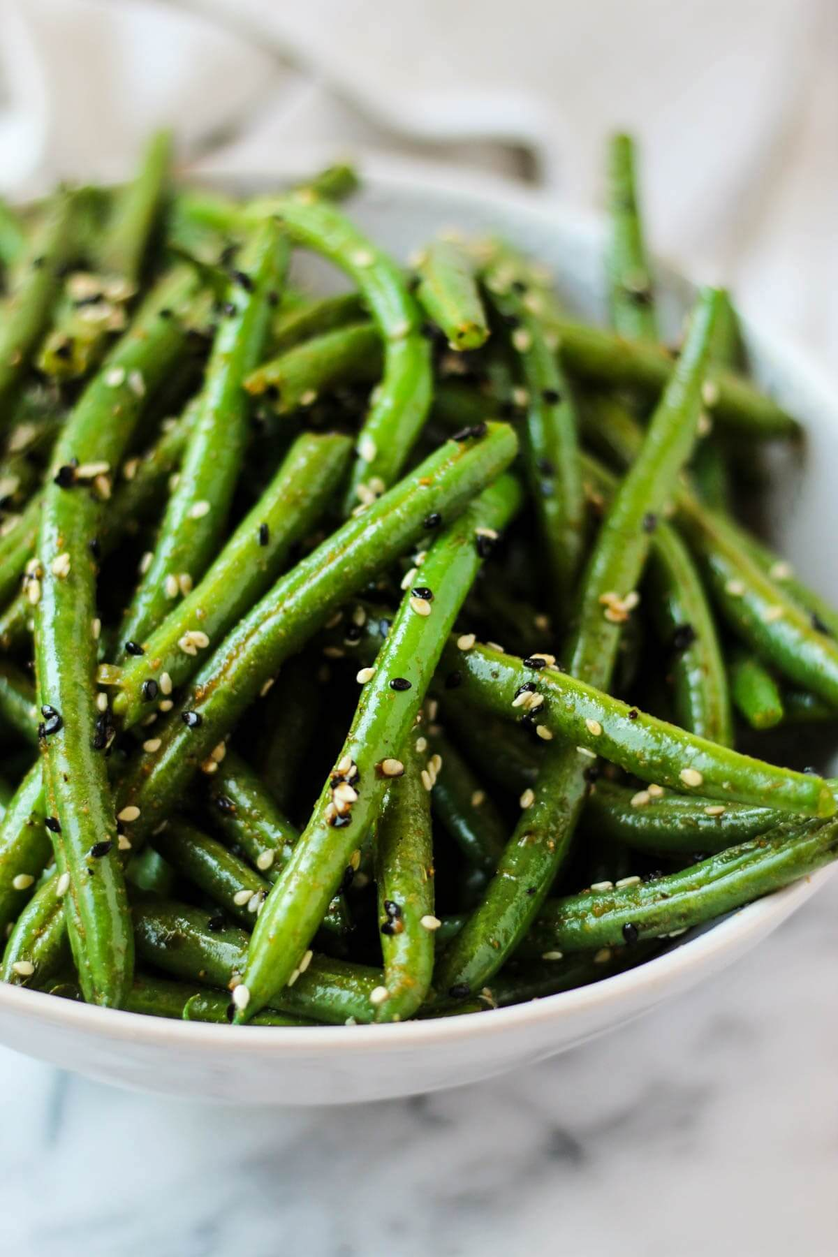 Vegan Sesame Garlic Green Beans