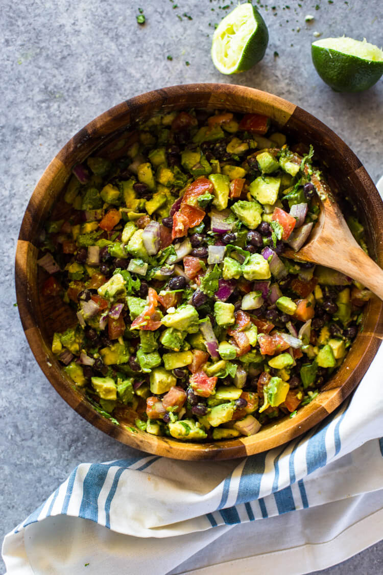 Vegan Avocado Black Bean Salad