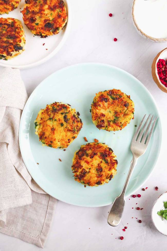 Potato Cakes with Carrot and Rice