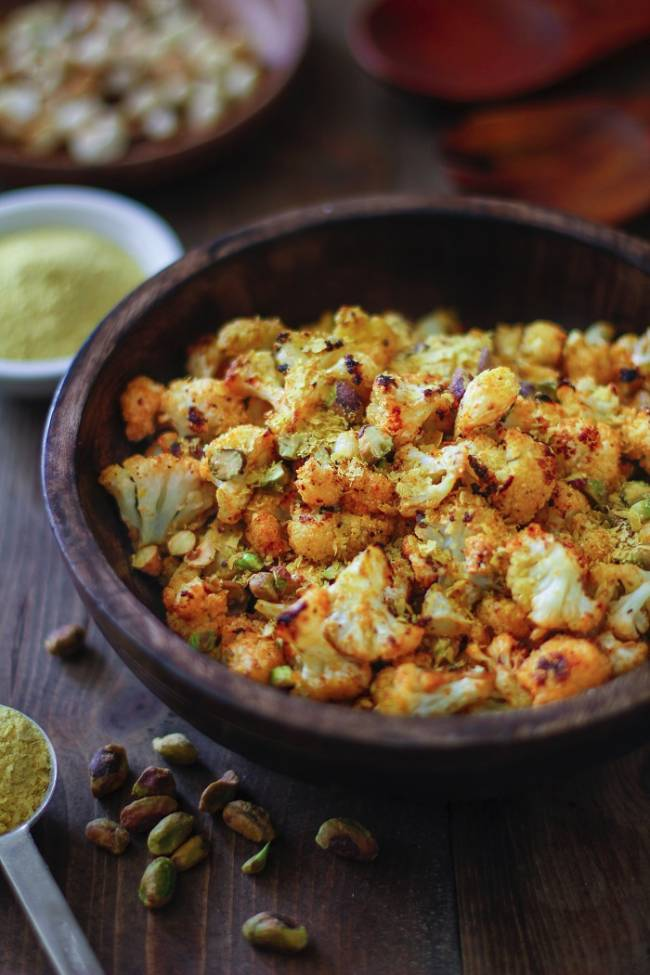 """Cheesy"" Roasted Cauliflower"