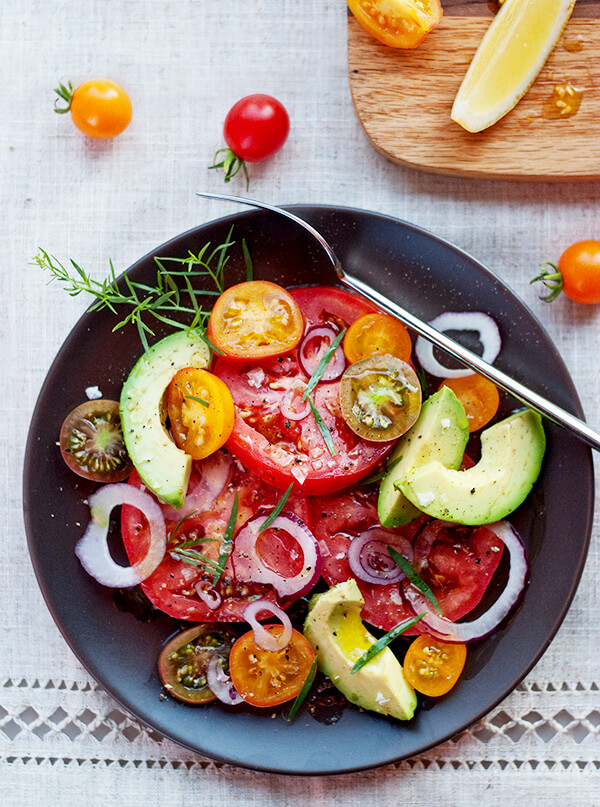Vegan Tomato Avocado Salad