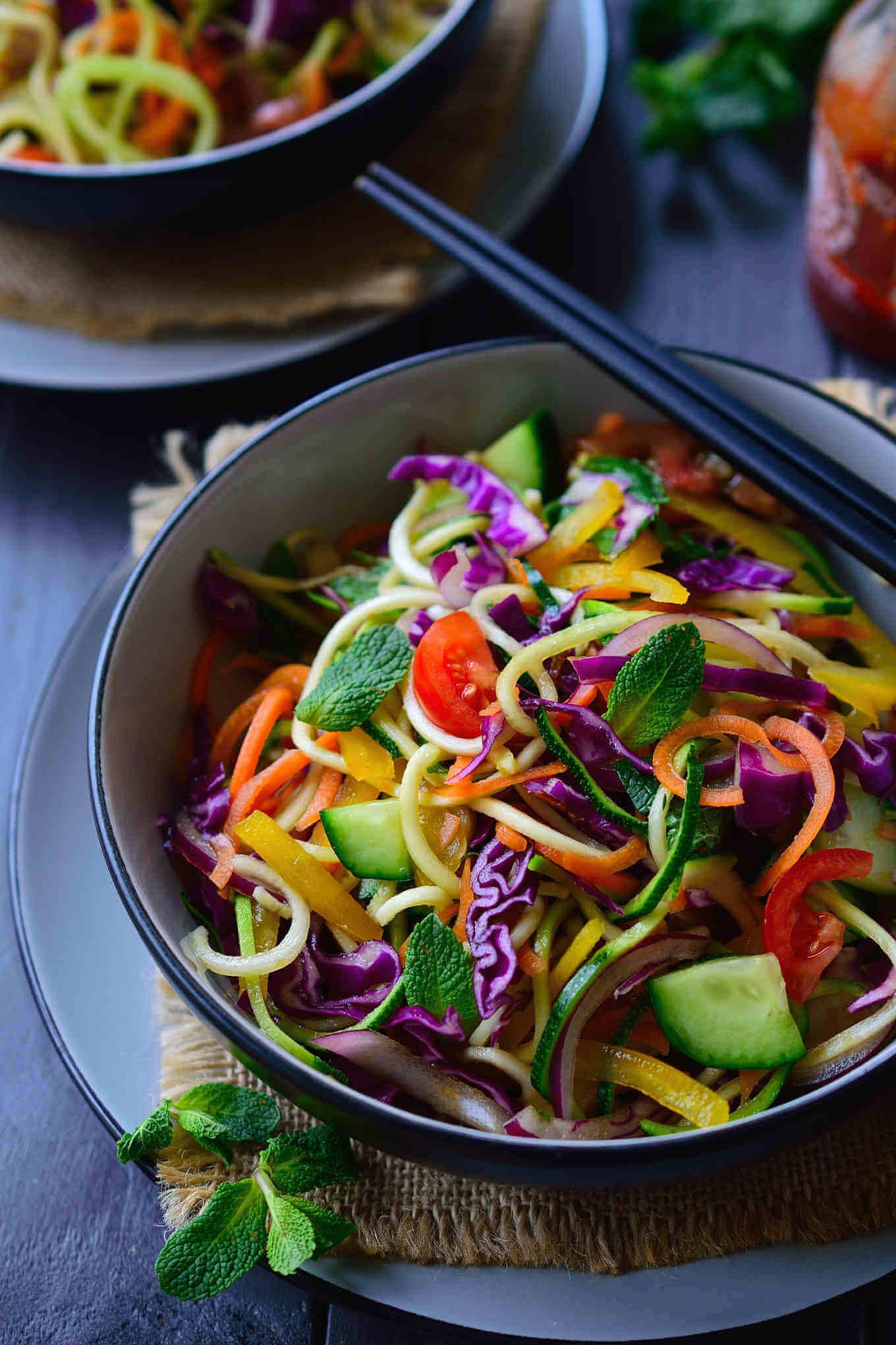 Vegan Raw Veggie Noodles