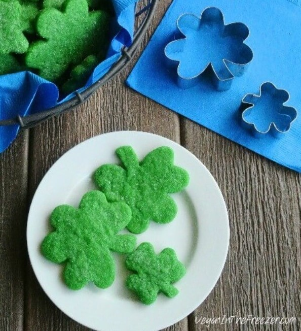 Vegan Shamrock Sugar Cookies