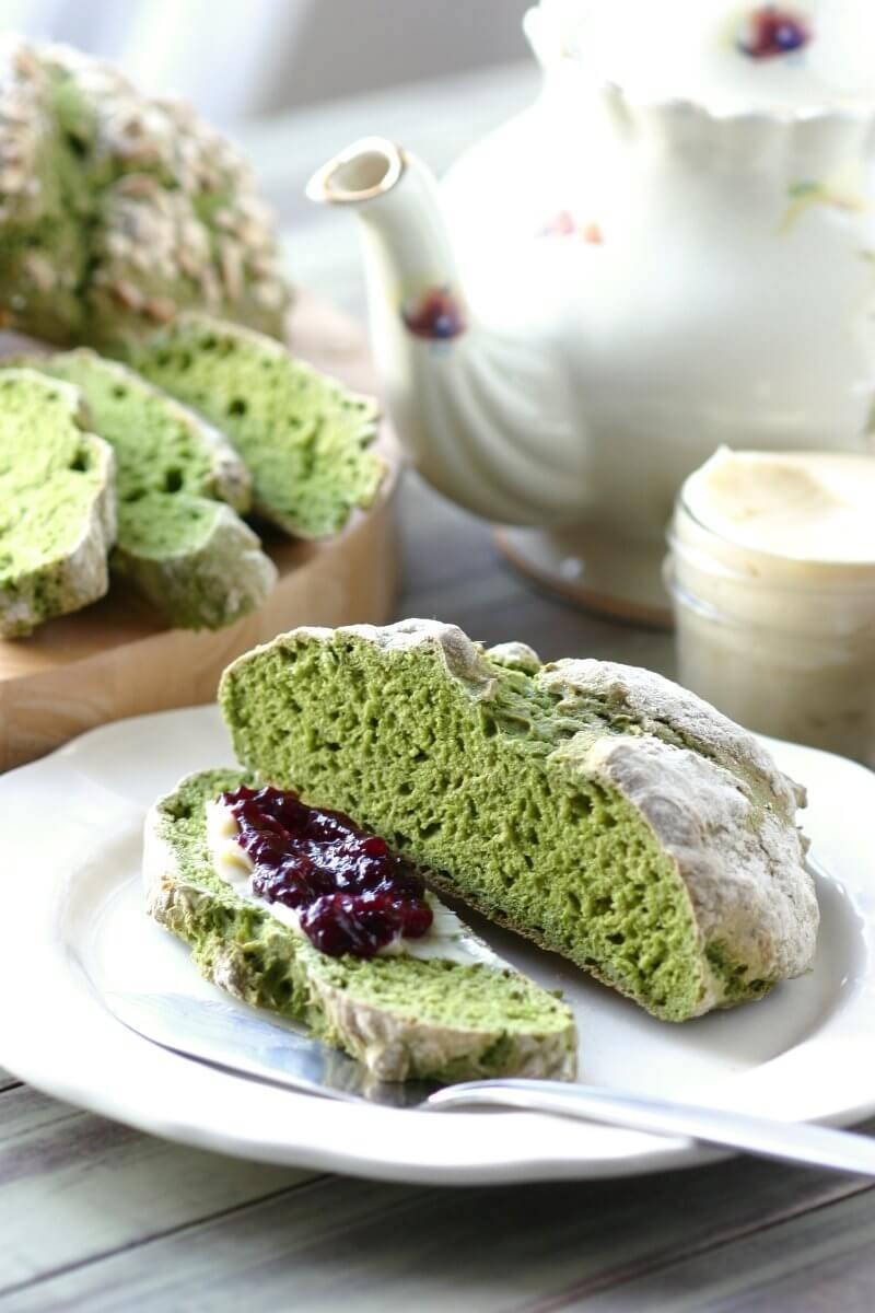 Vegan Green Irish Soda Bread