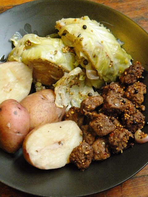 "Vegan Corned ""Beef"" & Cabbage"