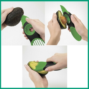 3in1 Avocado Slicer - Must-Have Kitchen Appliances and Gadgets for Vegans | The Green Loot #vegan #kitchen