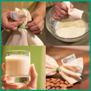 Plant Milk Bag - Must-Have Kitchen Appliances and Gadgets for Vegans | The Green Loot #vegan #kitchen