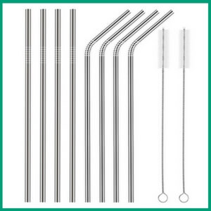 Stainless Steel Straws - Must-Have Kitchen Appliances and Gadgets for Vegans | The Green Loot #vegan #kitchen