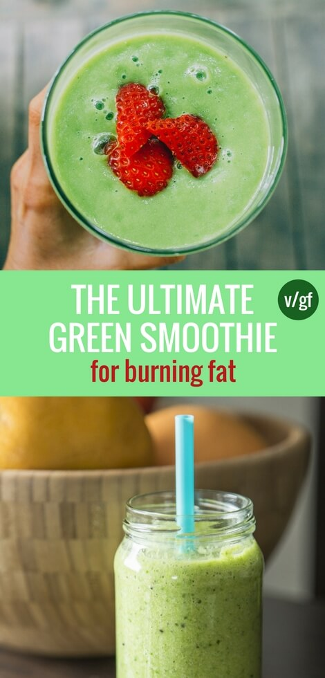 Learn how to make the best green smoothie for weight loss, detox, and full body cleanse. Made with scientifically proven fat burning ingredients! Vegan and plant-based recipe. | The Green Loot #vegan #weightloss