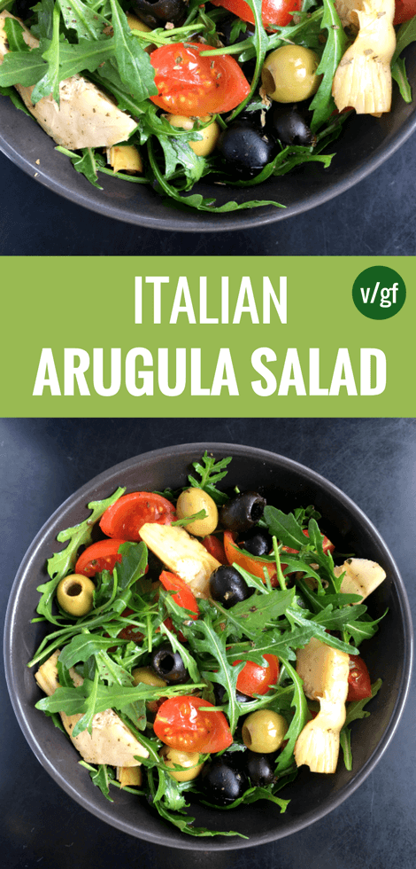 Italian Arugula Salad Recipe Vegan The Green Loot