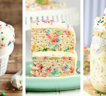 These Vegan Birthday Cake Recipes (Funfetti) are not just for birhdays! You don't need an excuse to make your breakfasts and desserts special with these super fun and tasty sweet meals! | The Green Loot #vegan