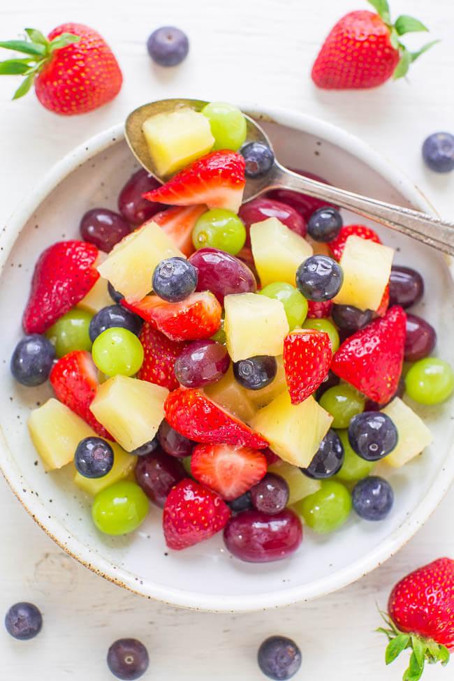 Vegan Pina Colada Fruit Salad | The Green Loot #vegan #brunch