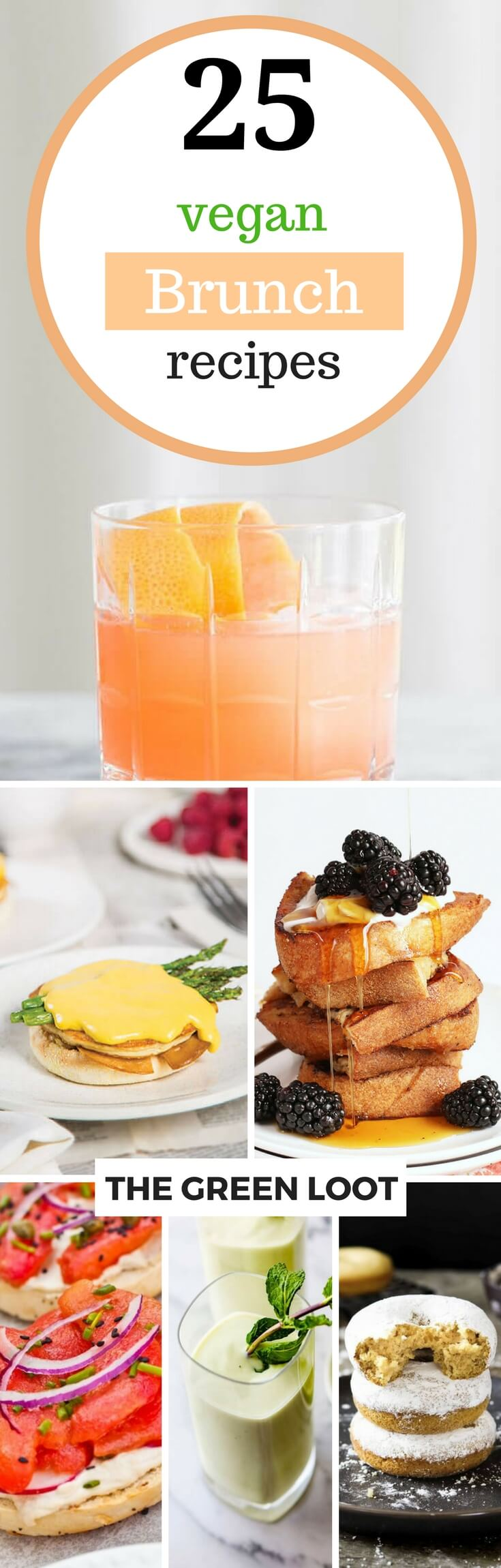 See these Vegan Brunch Recipes and Ideas to throw the best party ever! Whether you are hosting for your small family or a big crowd, these tasty breakfast recipes and cocktails will make everyone happy. | The Green Loot #vegan #brunch