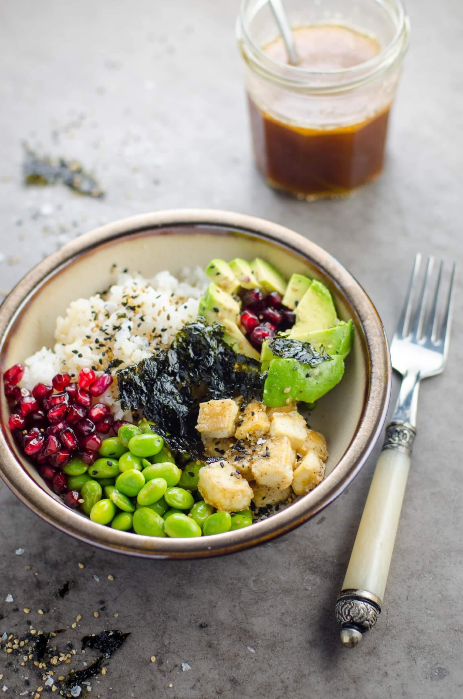 Vegan Tofu Sushi Bowl