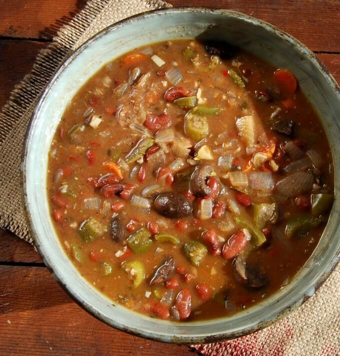 Vegan Seafood-less Gumbo