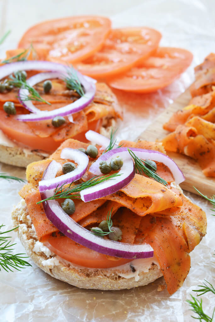 Vegan Carrot Lox // | The Green Loot #vegan #seafood