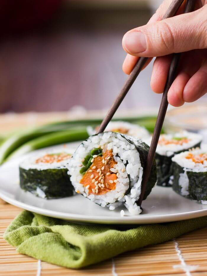 Vegan Sweet Potato Sushi